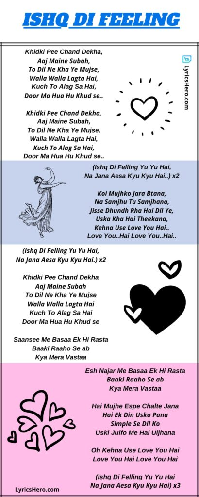 Ishq Di Feeling Lyrics In Hindi