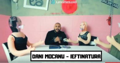 Ieftinatura Lyrics, Dani Mocanu Lyrics, Ieftinatura song Lyrics, Dani Mocanu - Ieftinatura Lyrics